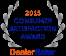 2015 Dealer Rater Consumer Satisfaction Award in DC, MD & VA - Easterns Automotive