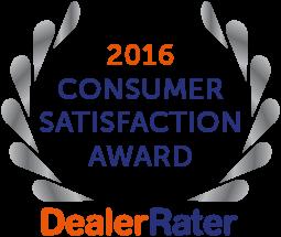 2016 Dealer Rater Consumer Satisfaction Award in DC, MD & VA - Easterns Automotive