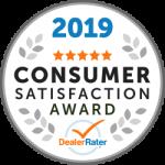2019 Dealer Rater Consumer Satisfaction Award in DC, MD & VA - Easterns Automotive