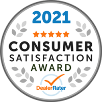 2021 Dealer Rater Consumer Satisfaction Award - Easterns Automotive