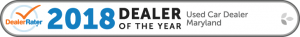 2018 Dealer Rater Used Car Dealership of The Year in Maryland - Easterns Automotive