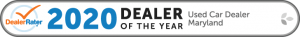 2020 Dealer Rater Used Car Dealership of The Year in Maryland - Easterns Automotive