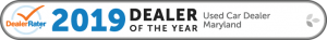 2019 Dealer Rater Used Car Dealership of The Year in Maryland - Easterns Automotive