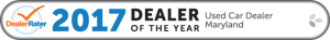 2017 Dealer Rater Used Car Dealership of The Year in Maryland - Easterns Automotive