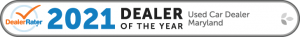 2021 Dealer Rater Used Car Dealership of The Year in Maryland - Easterns Automotive