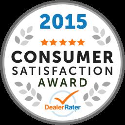 2015 Dealer Rater Consumer Satisfaction Award in MD, VA & DC - Easterns Automotive