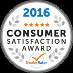 2016 Dealer Rater Consumer Satisfaction Award in MD, VA & DC - Easterns Automotive