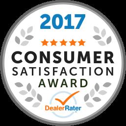 2017 Dealer Rater Consumer Satisfaction Award in MD, VA & DC - Easterns Automotive