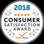 2018 Dealer Rater Consumer Satisfaction Award in MD, VA & DC - Easterns Automotive
