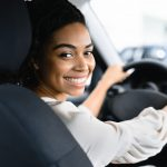 woman leasing her first car